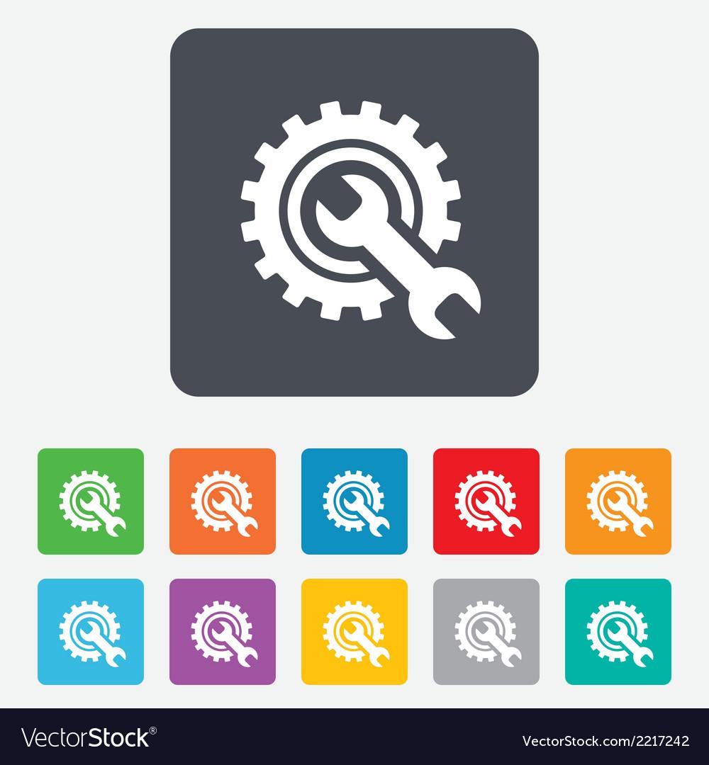 Repair tool sign icon service symbol vector | Price: 1 Credit (USD $1)