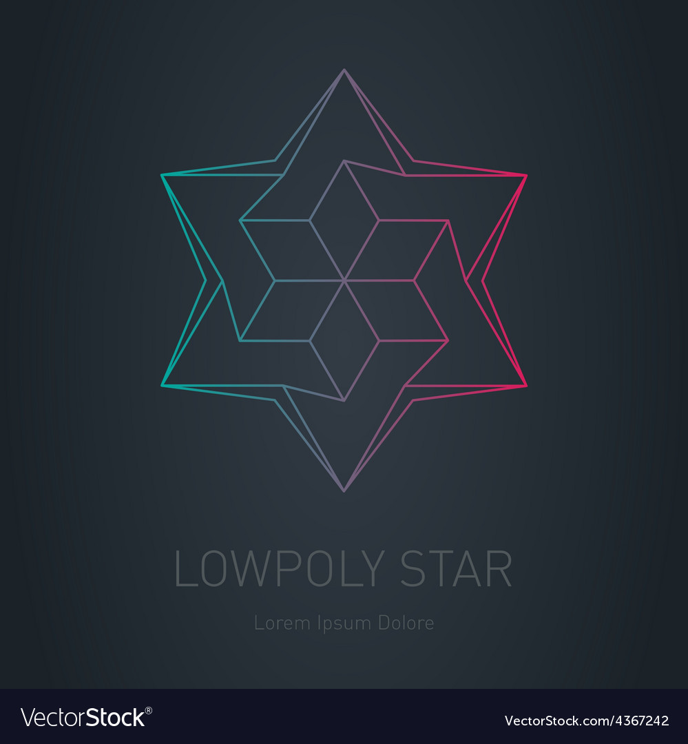 Star logo low poly impossible figure lowpoly vector | Price: 1 Credit (USD $1)