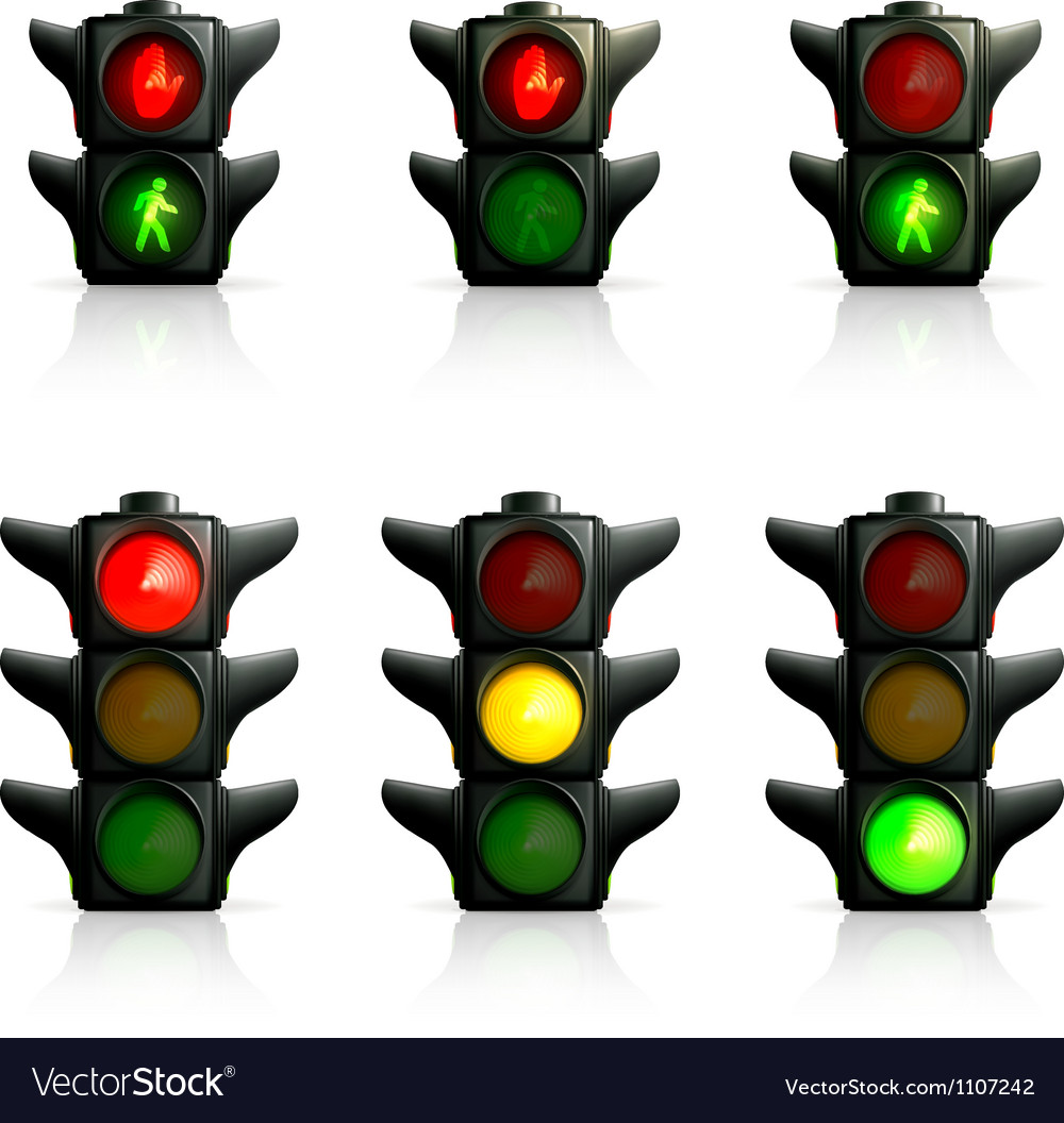 Traffic lights vector | Price: 3 Credit (USD $3)