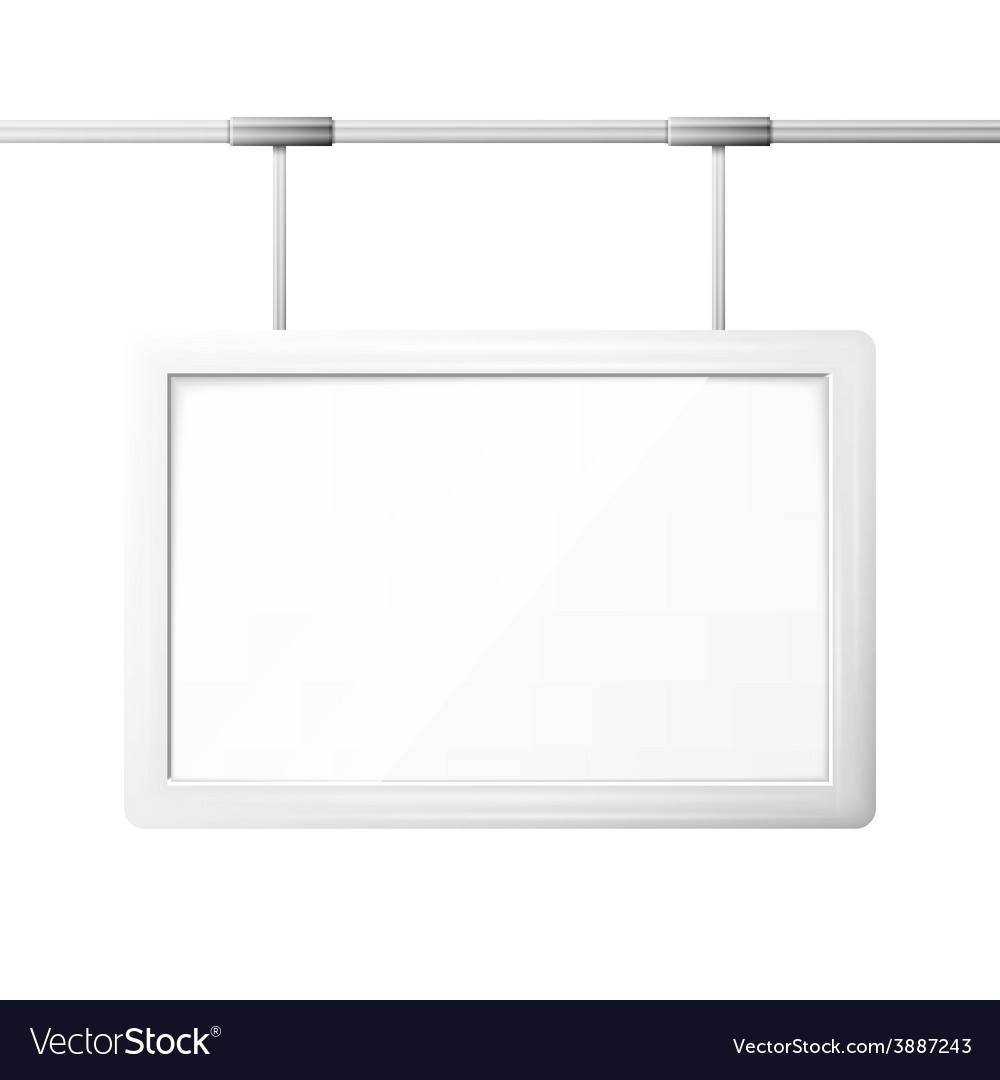 Blank billboard screen vector | Price: 1 Credit (USD $1)