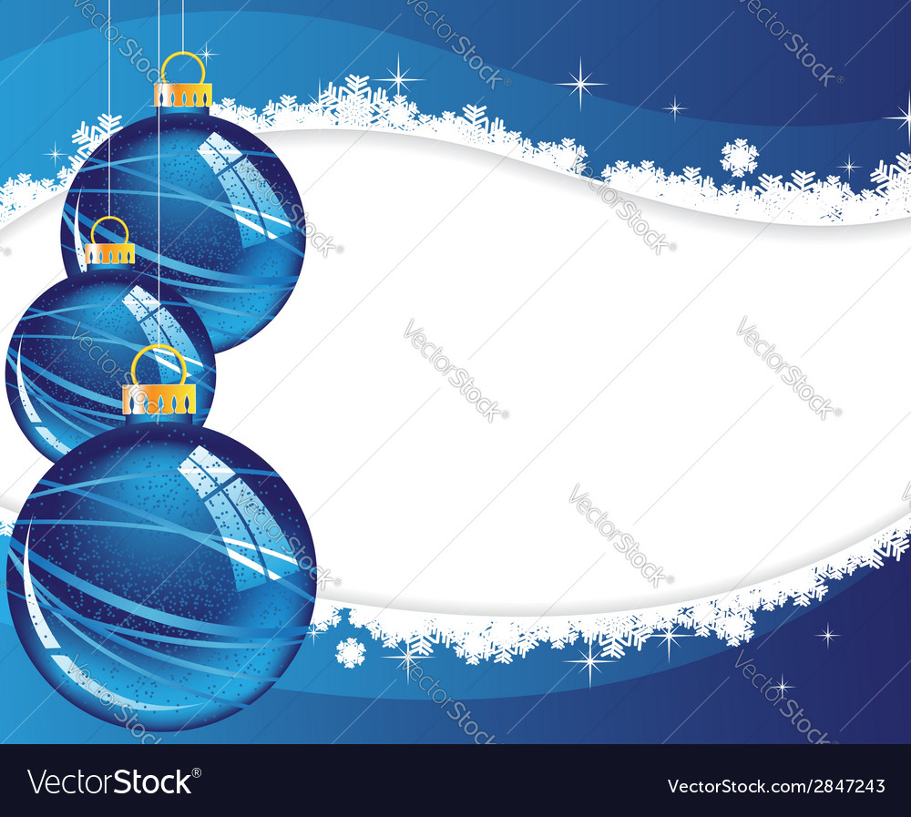 Blue christmas decorations vector | Price: 1 Credit (USD $1)