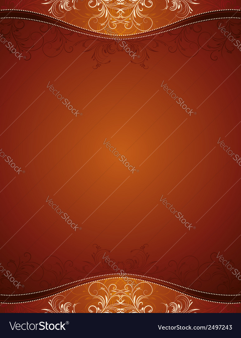 Brown background with decorative ornaments vector | Price: 1 Credit (USD $1)