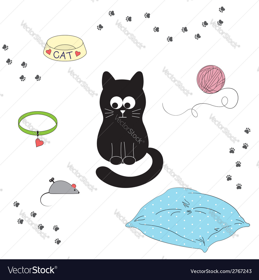 Cats accessories vector | Price: 1 Credit (USD $1)