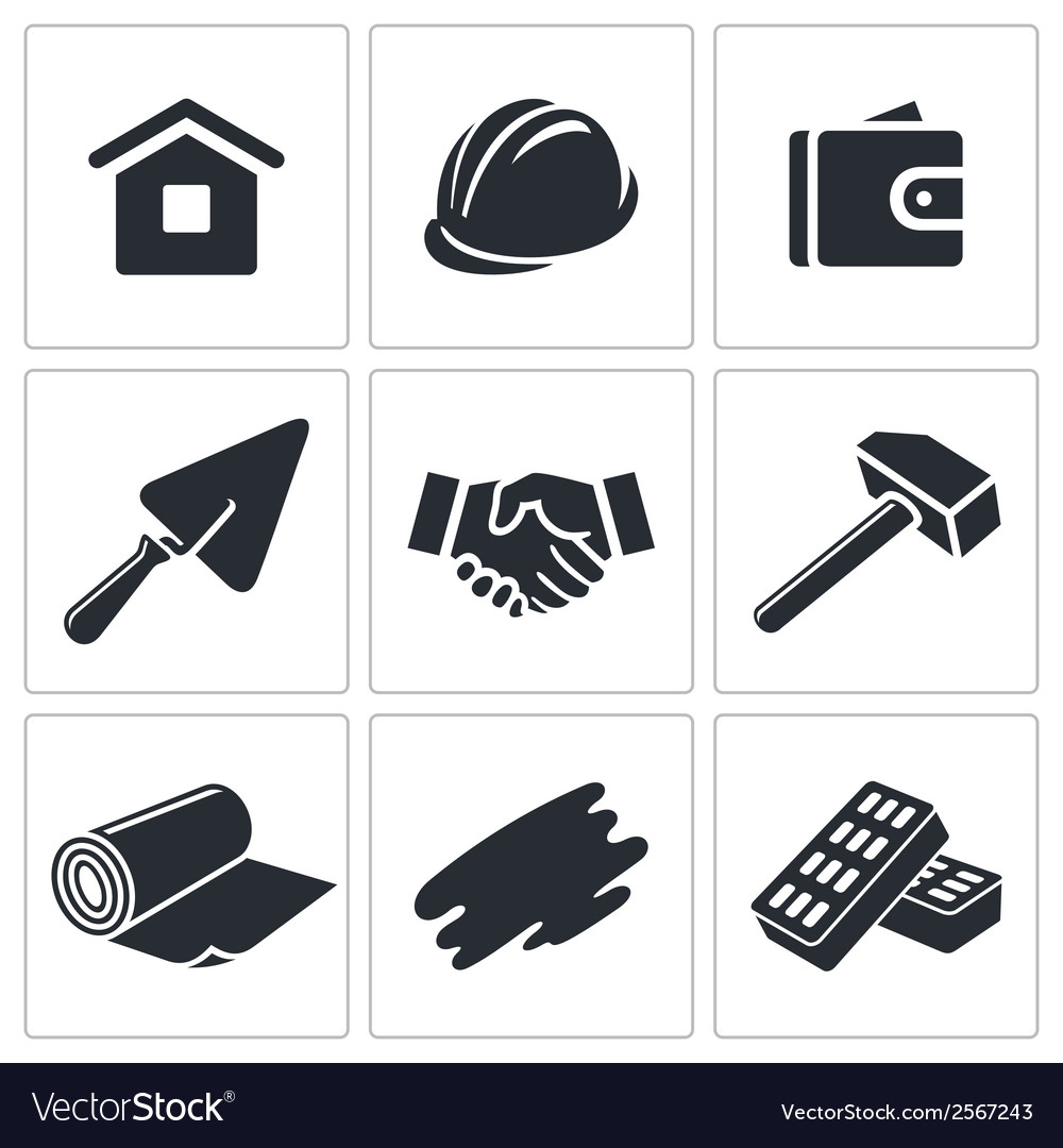 Construction and home repair icon collection vector | Price: 1 Credit (USD $1)