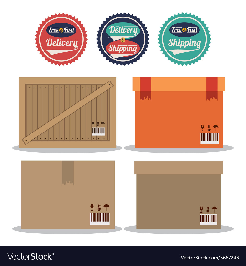 Delivery design vector | Price: 1 Credit (USD $1)