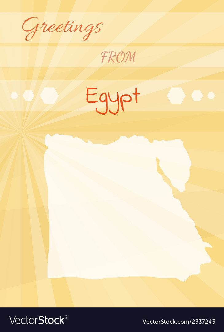 Greetings from egypt vector | Price: 1 Credit (USD $1)