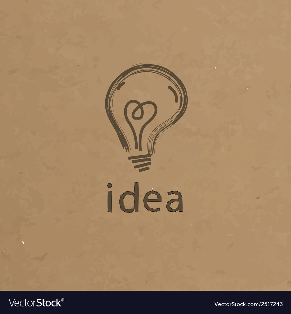 Lightbulb paper creative idea symbol concept eps vector | Price: 1 Credit (USD $1)