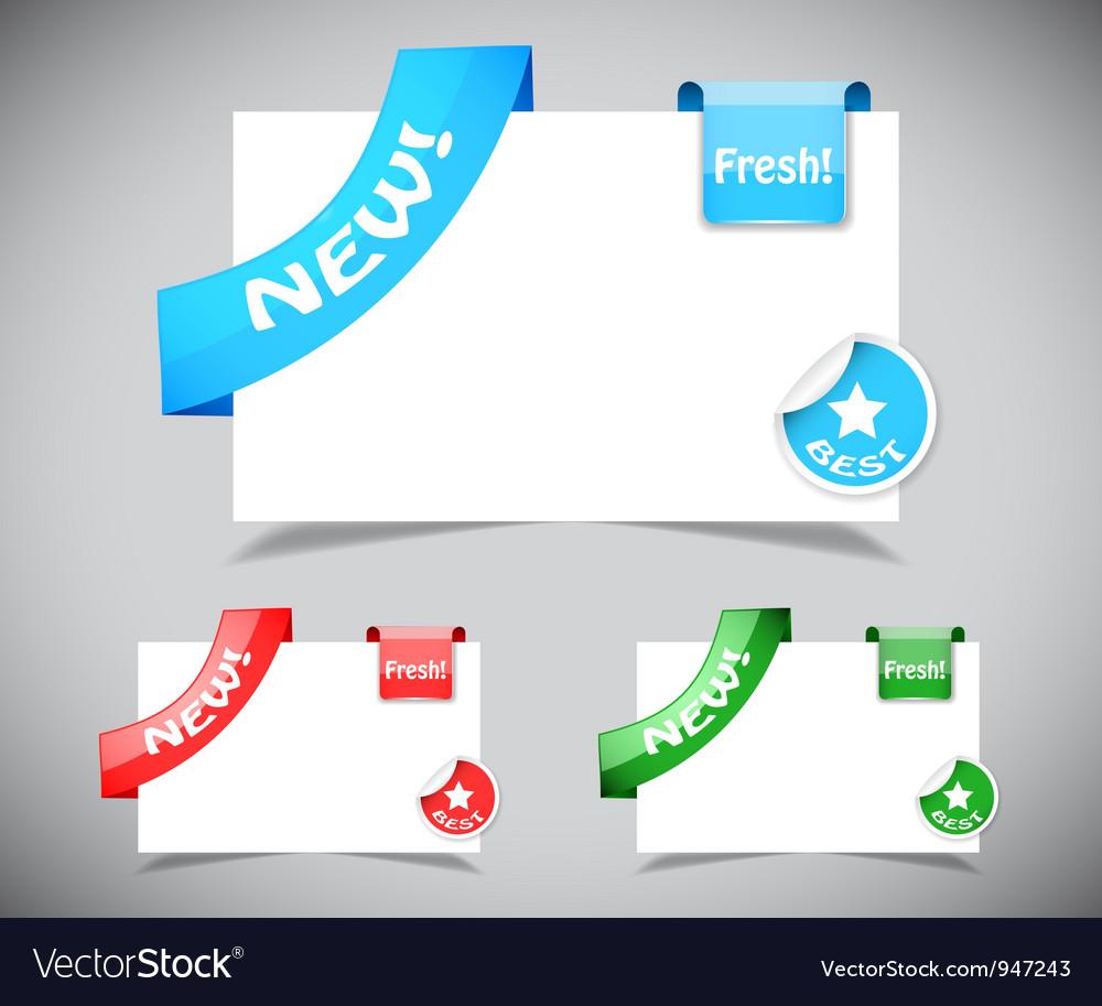 Set of design elements vector   Price: 1 Credit (USD $1)