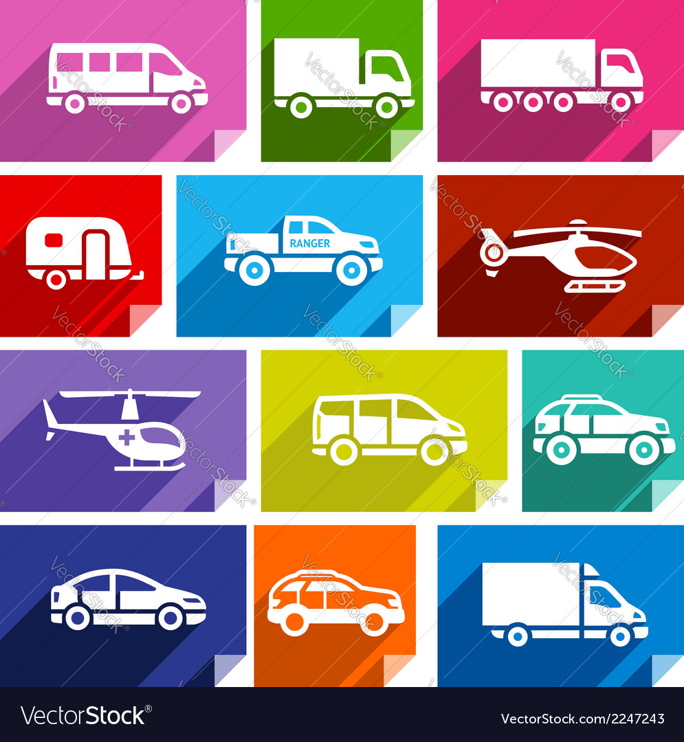 Transport flat icon bright color-03 vector | Price: 1 Credit (USD $1)