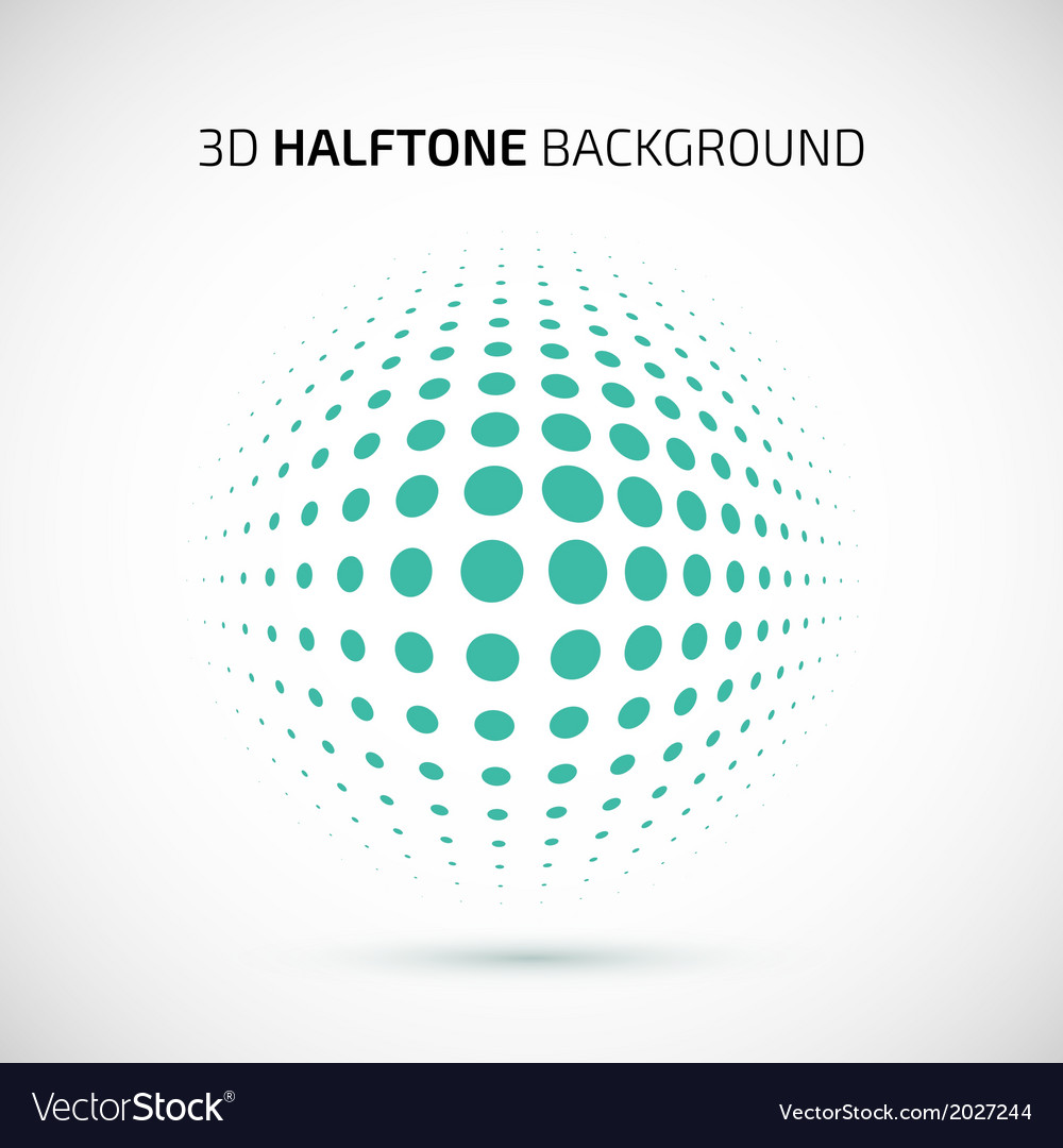 Abstract perspective background with halftone vector | Price: 1 Credit (USD $1)