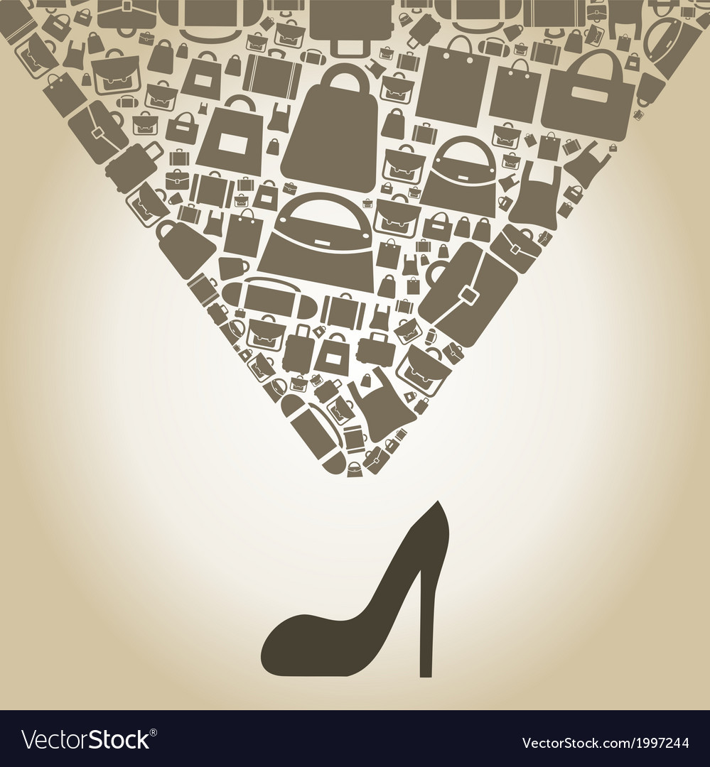 Bag from shoe vector | Price: 1 Credit (USD $1)
