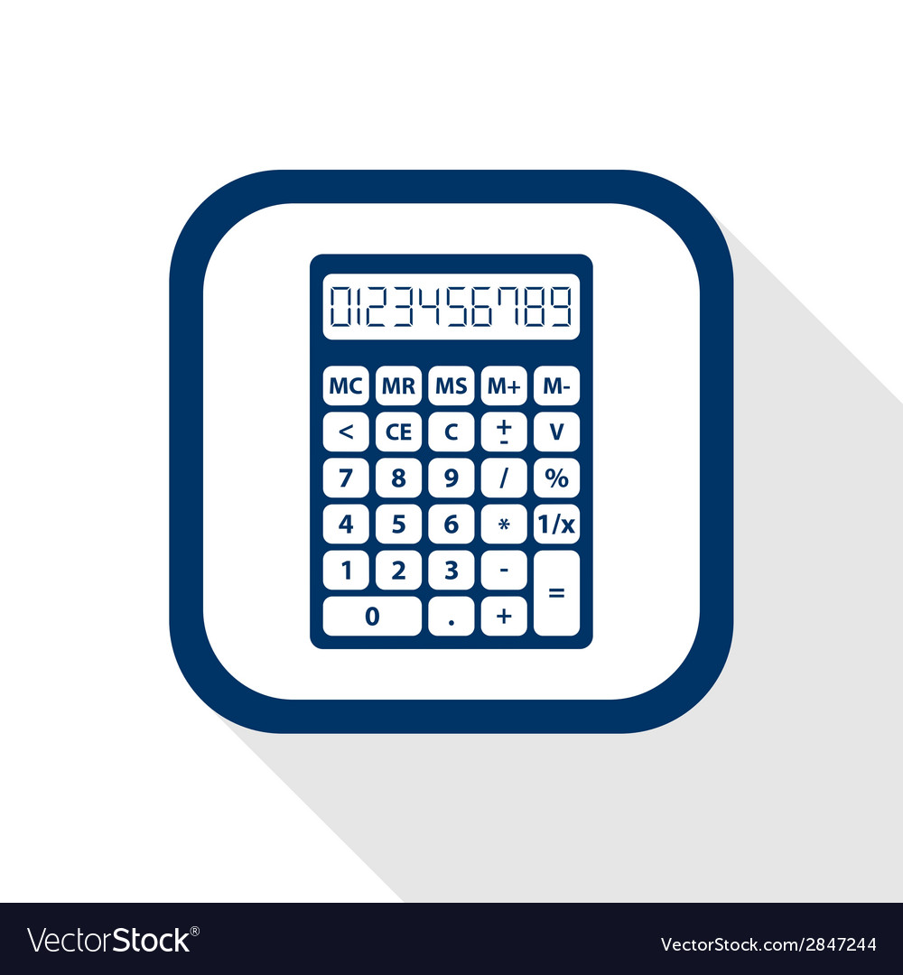 Calculator flat icon vector | Price: 1 Credit (USD $1)
