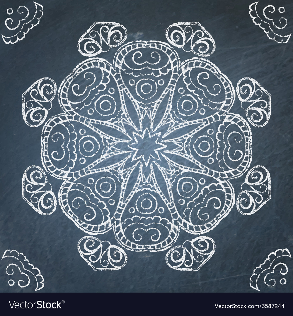 Chalkboard ornament vector | Price: 1 Credit (USD $1)
