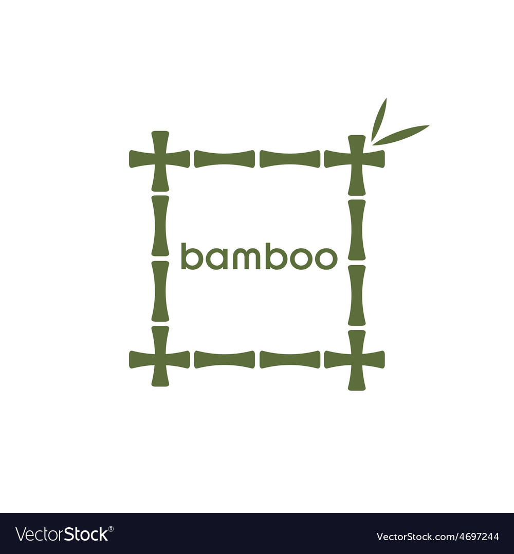 Green bamboo stems and leaves vector | Price: 1 Credit (USD $1)