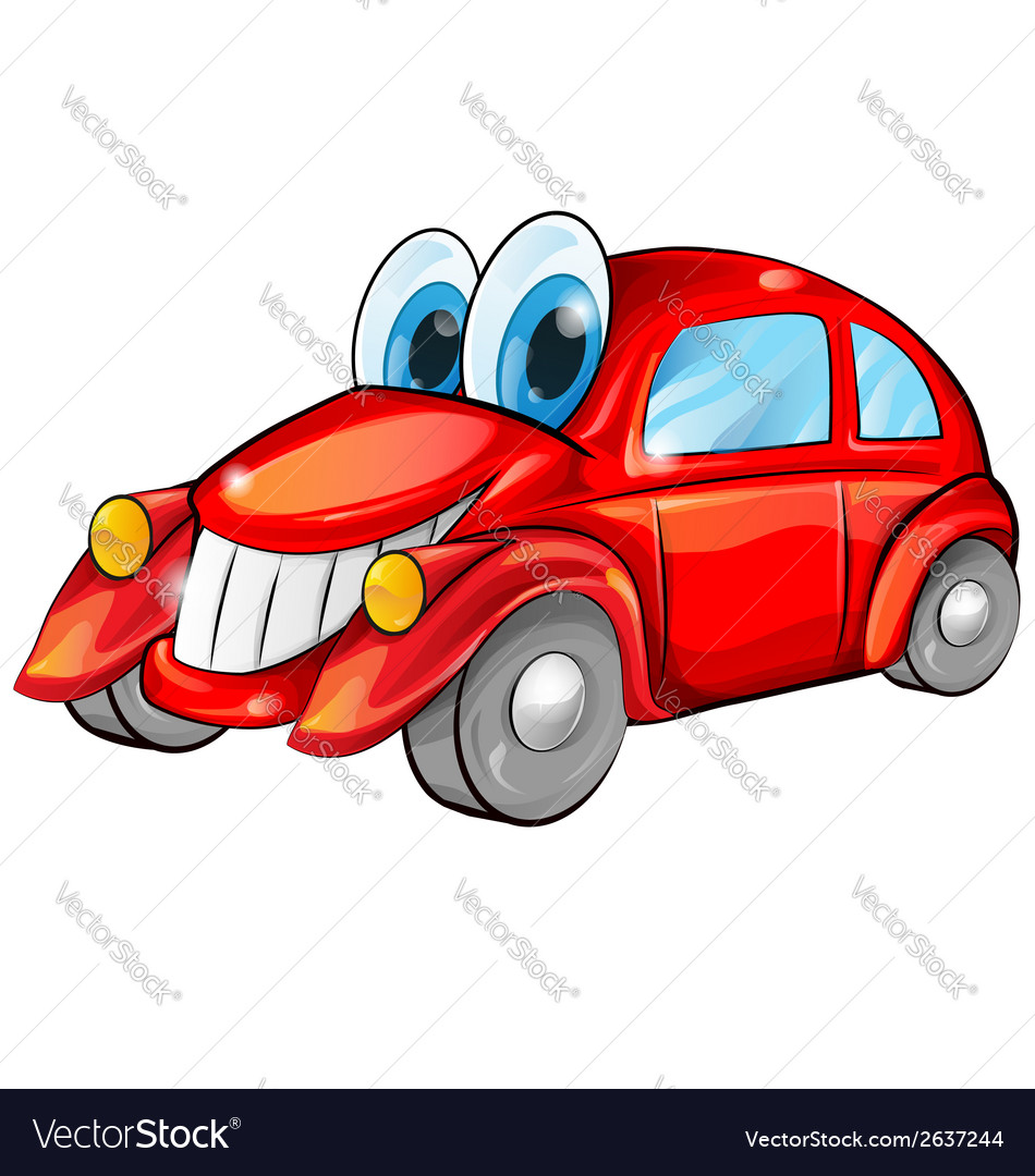 Happy car cartoon vector | Price: 1 Credit (USD $1)