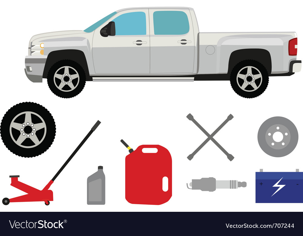 Pick-up truck vector | Price: 1 Credit (USD $1)