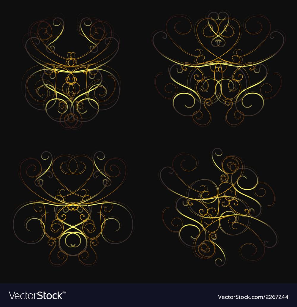 Set of calligraphic swirls vector | Price: 1 Credit (USD $1)