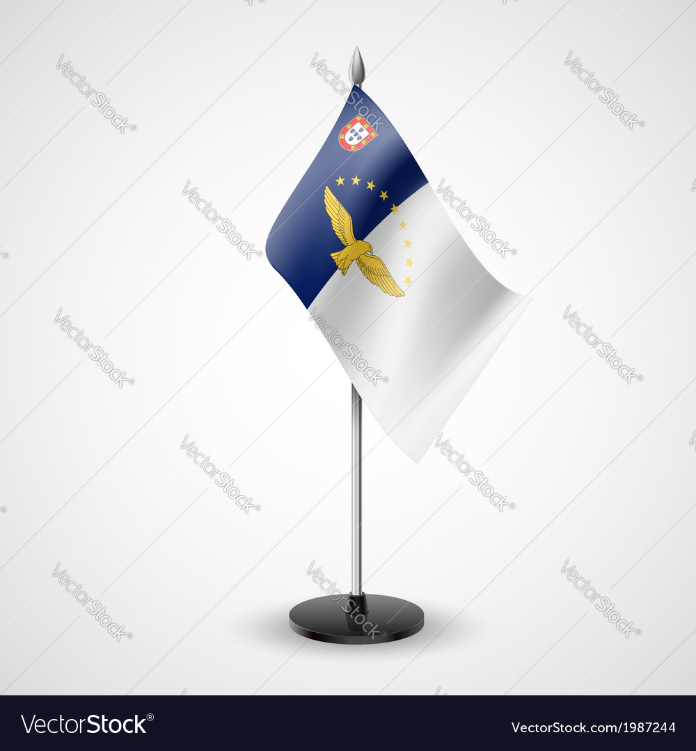 Table flag of azores vector | Price: 1 Credit (USD $1)