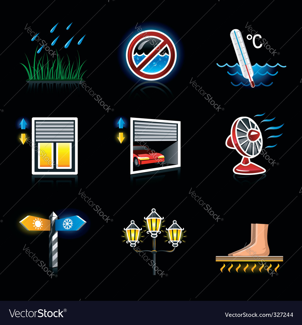 Web icons house yard vector | Price: 1 Credit (USD $1)