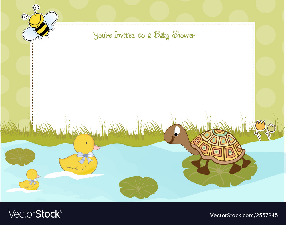 Baby shower announcement vector   Price: 1 Credit (USD $1)