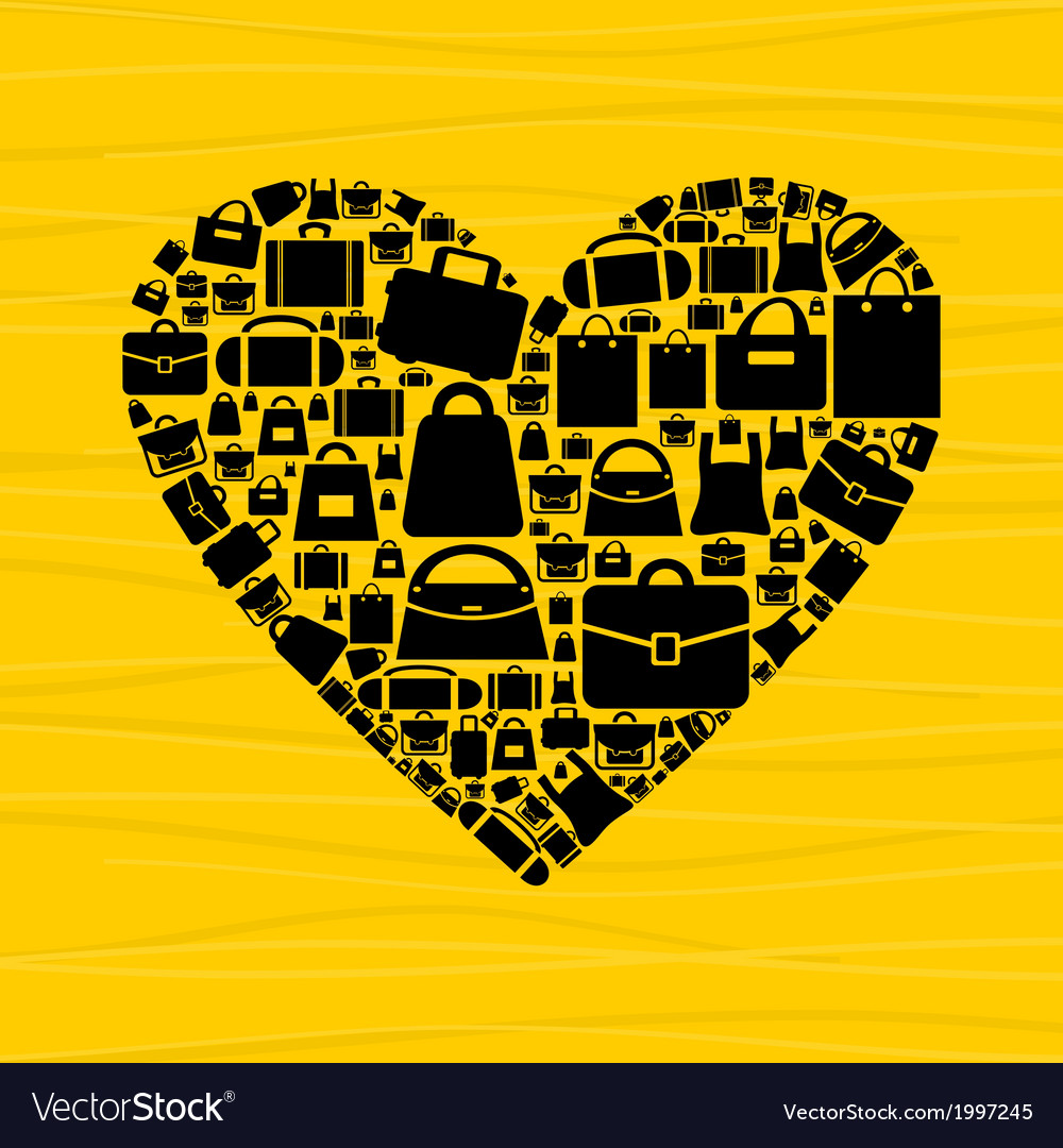 Bag heart vector   Price: 1 Credit (USD $1)