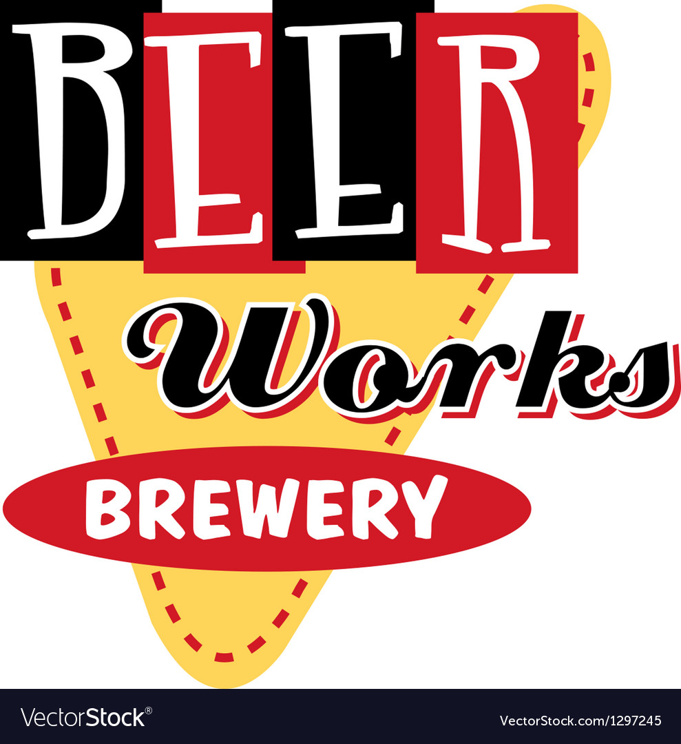 Beer works brewery vector | Price: 1 Credit (USD $1)