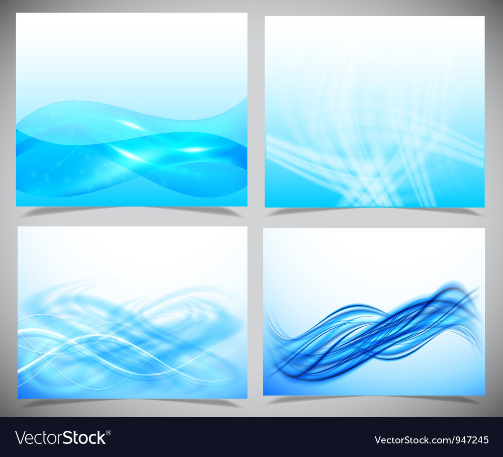 Blue and white modern futuristic backgrounds vector | Price: 1 Credit (USD $1)