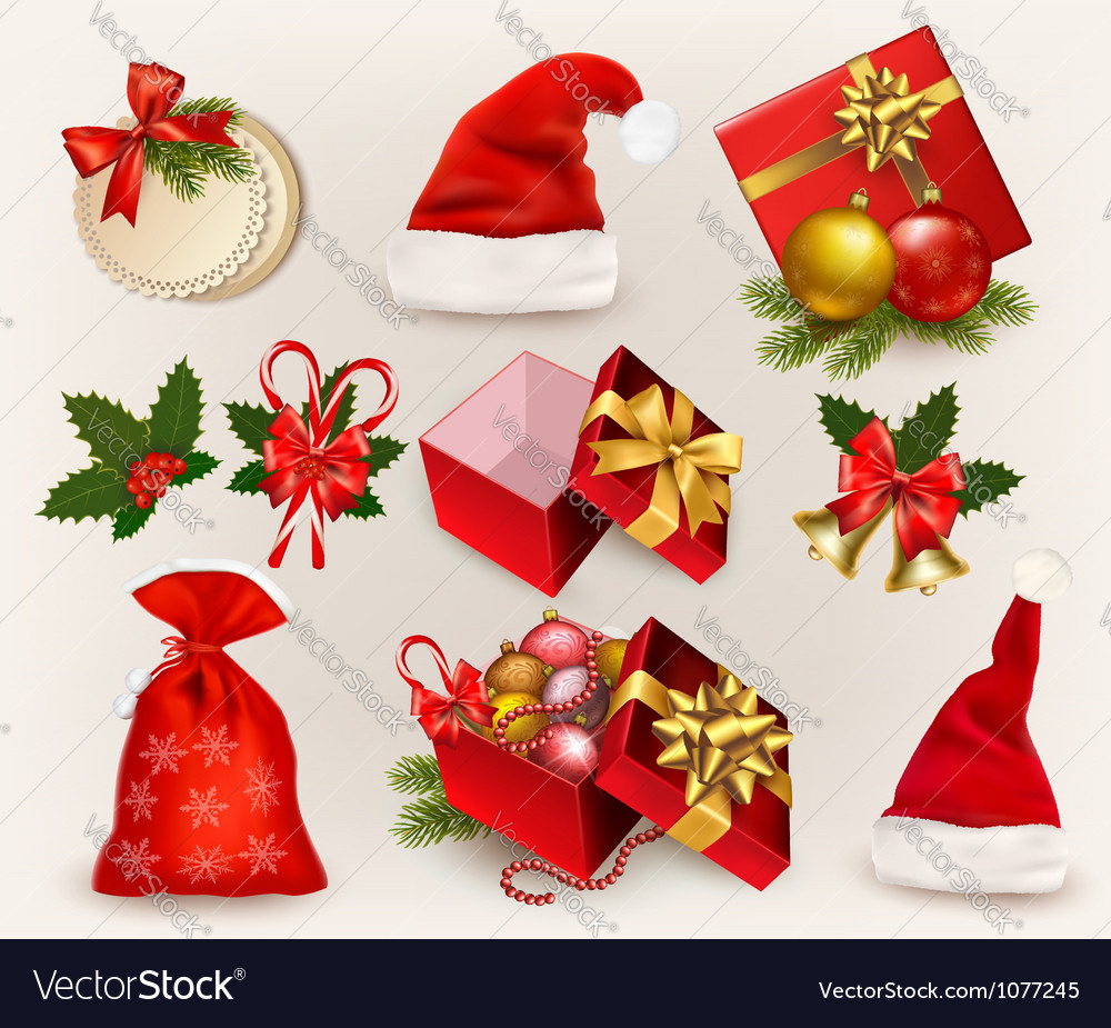 Christmas icons and objects vector | Price: 3 Credit (USD $3)