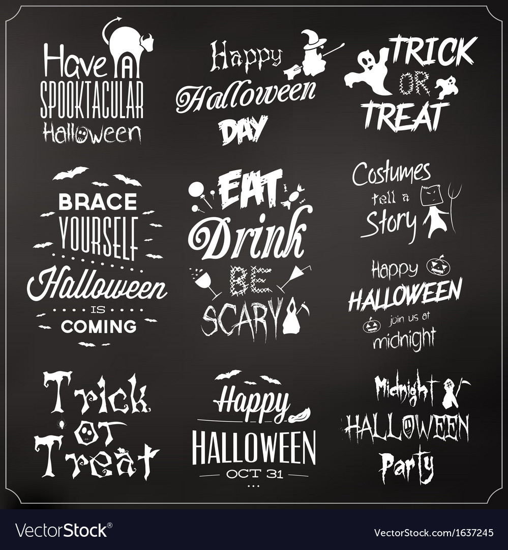Collection of typographic halloween design vector | Price: 1 Credit (USD $1)