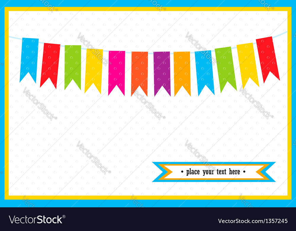Colorful little flags on the card vector | Price: 1 Credit (USD $1)