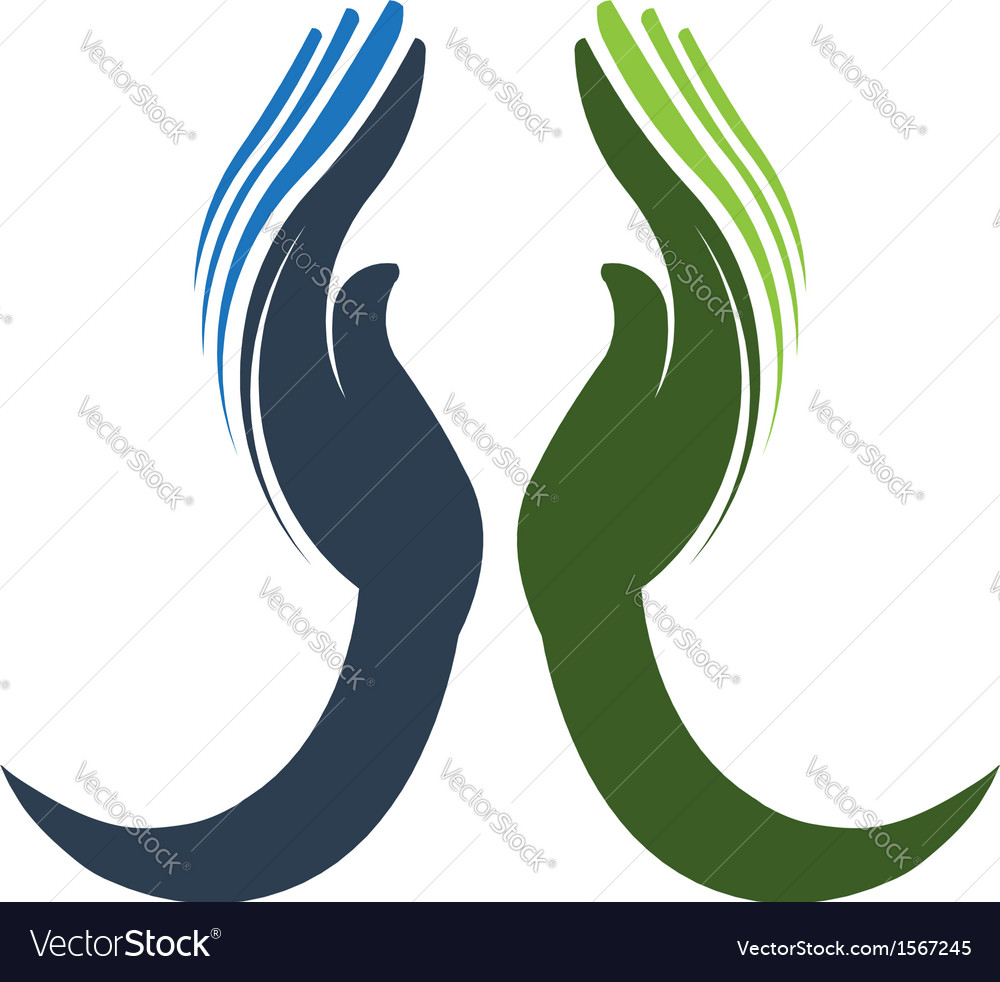 Devoted hands logo vector | Price: 1 Credit (USD $1)