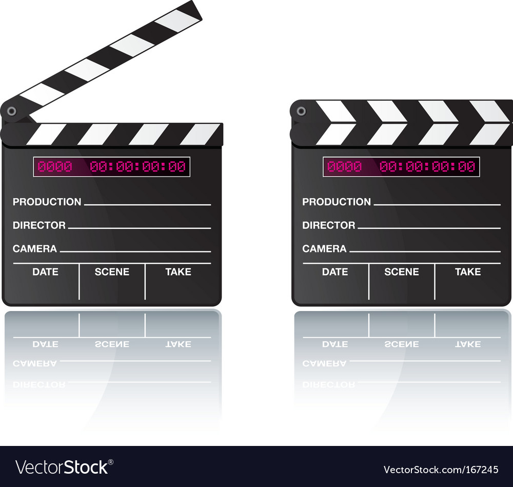 Digital movie clapper board vector | Price: 1 Credit (USD $1)