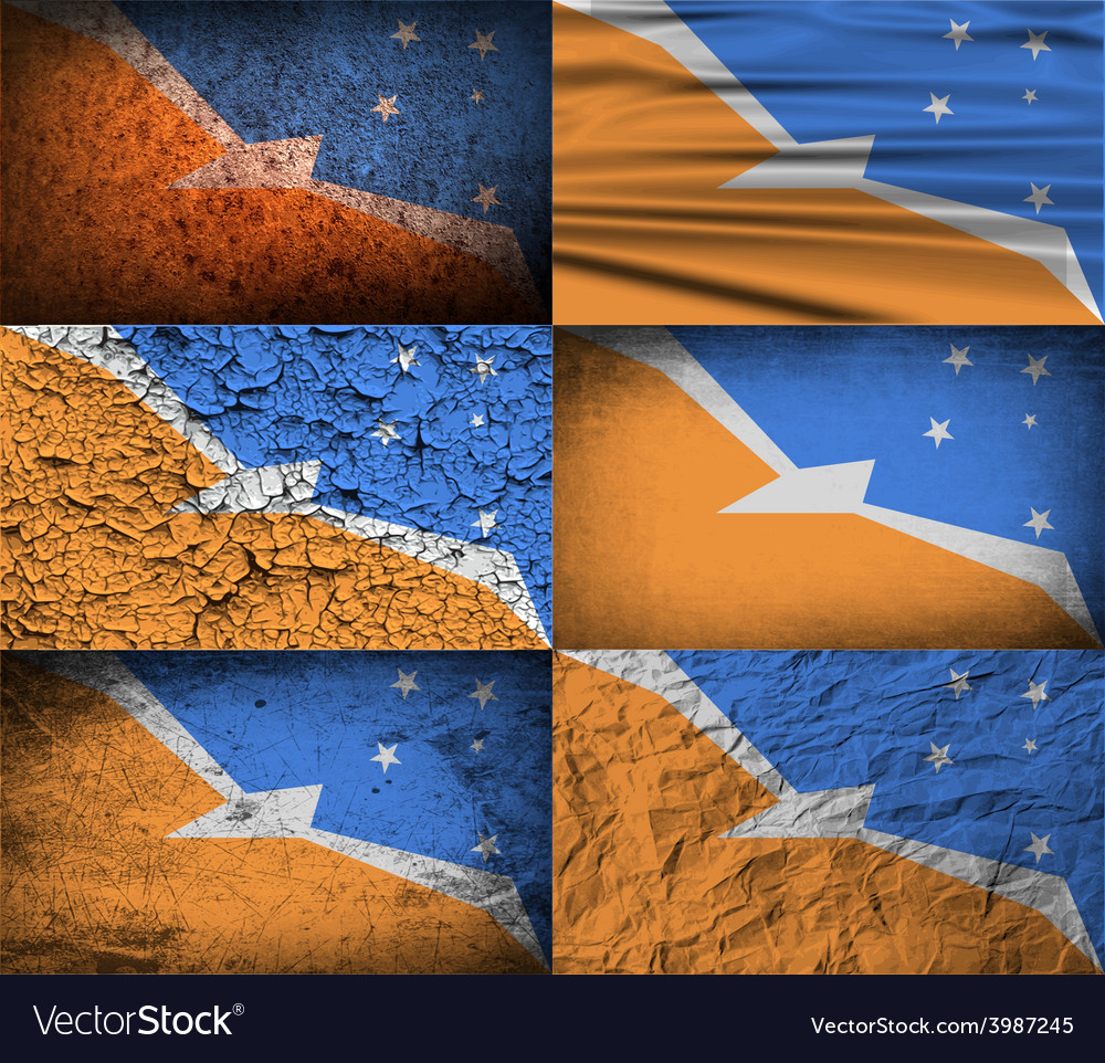 Flag of tierra del fuego province with old texture vector | Price: 1 Credit (USD $1)