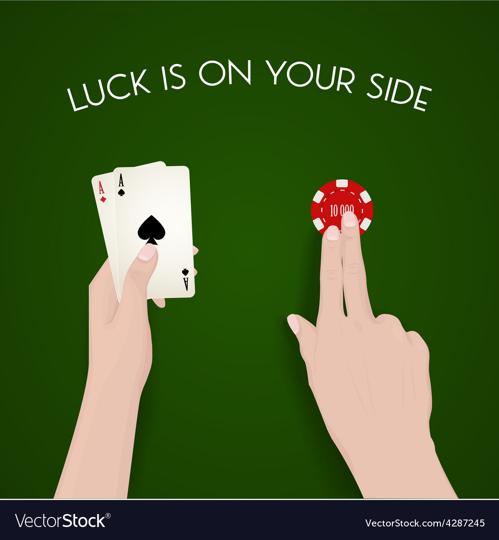Gabling and luck dealer green cloth fortune vector | Price: 1 Credit (USD $1)