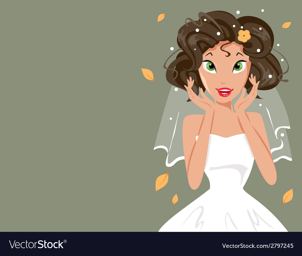 Happy bride vector | Price: 1 Credit (USD $1)