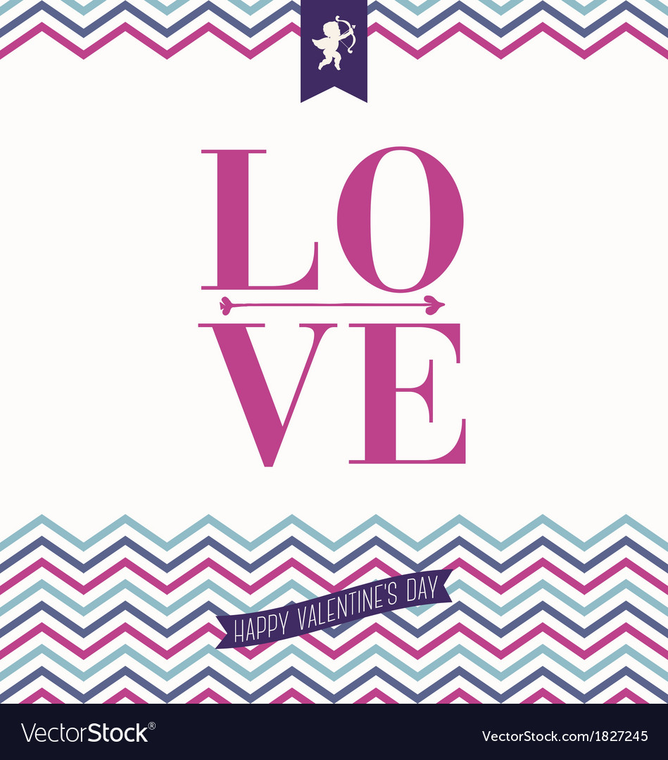 I love you - valentines day greeting card vector | Price: 1 Credit (USD $1)