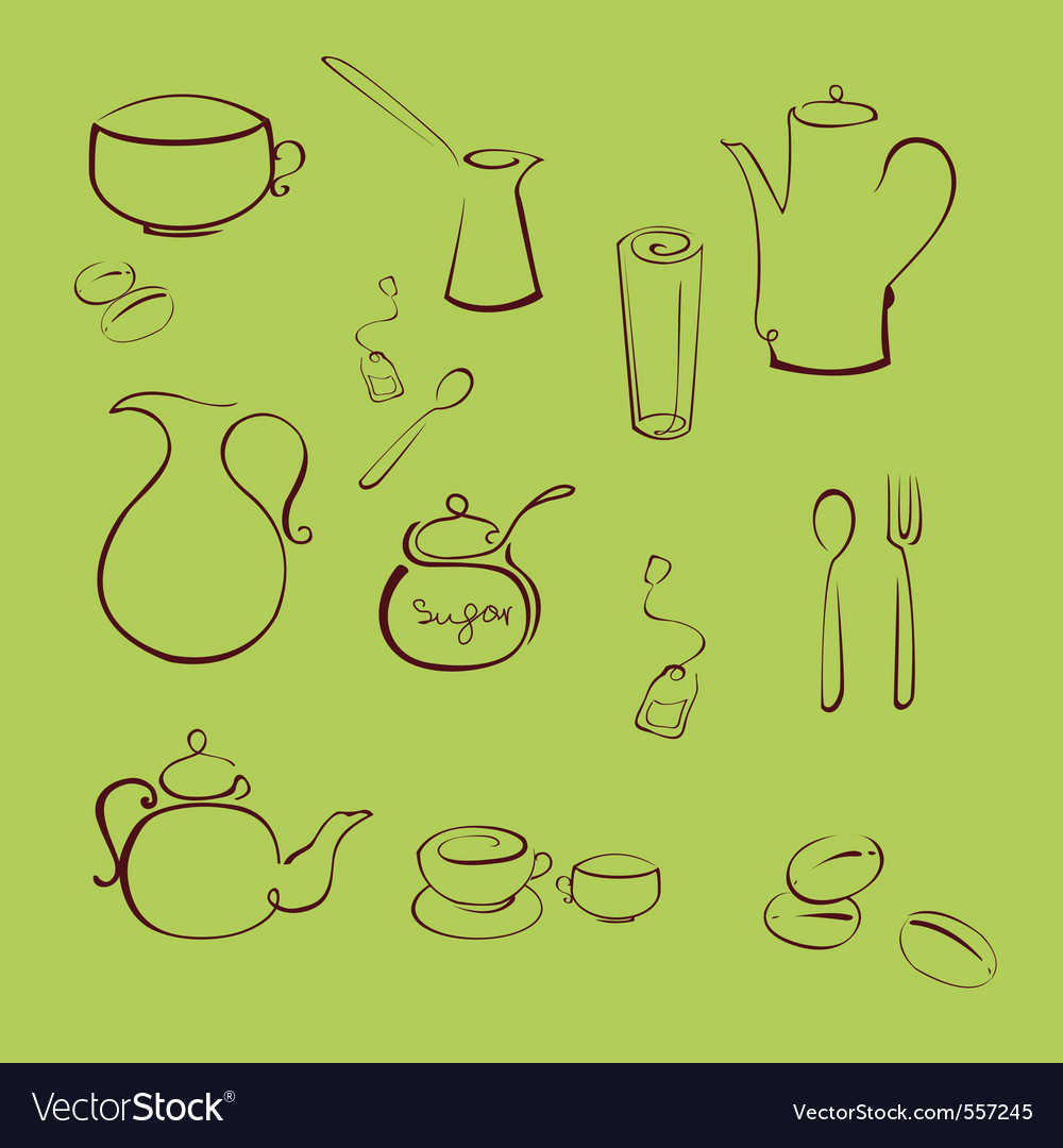Kitchen utensil design set vector | Price: 1 Credit (USD $1)