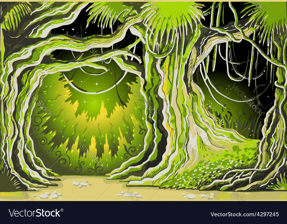 Magic tale forest background vector | Price: 3 Credit (USD $3)