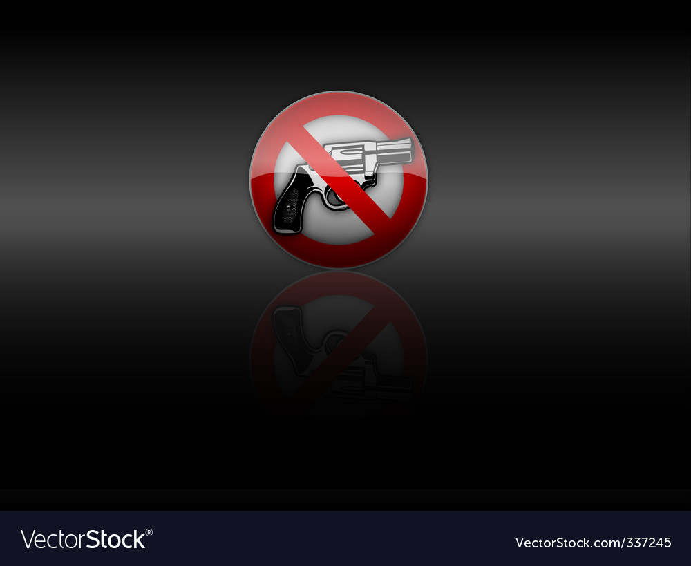 No gun vector | Price: 1 Credit (USD $1)