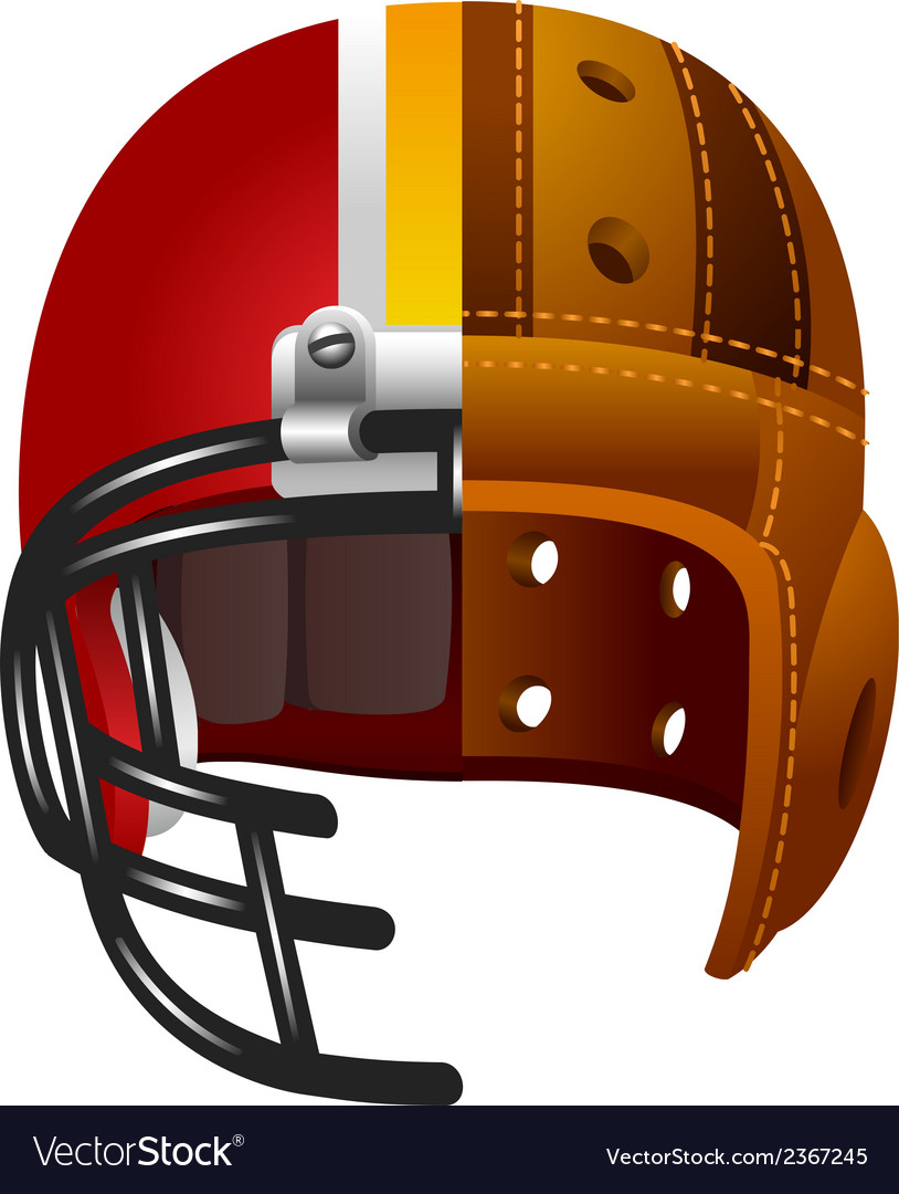 Old and new american football helmet vector | Price: 1 Credit (USD $1)