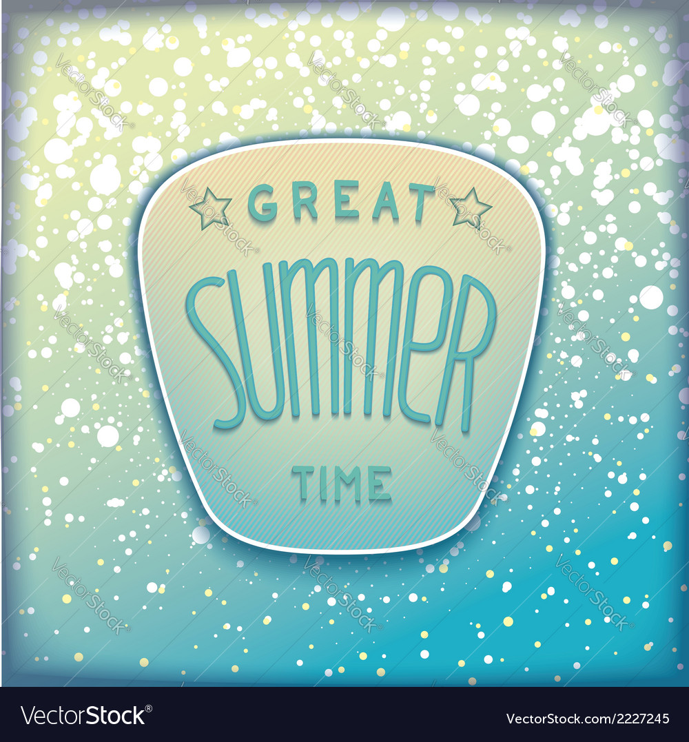 Realistic summer badge vector | Price: 1 Credit (USD $1)