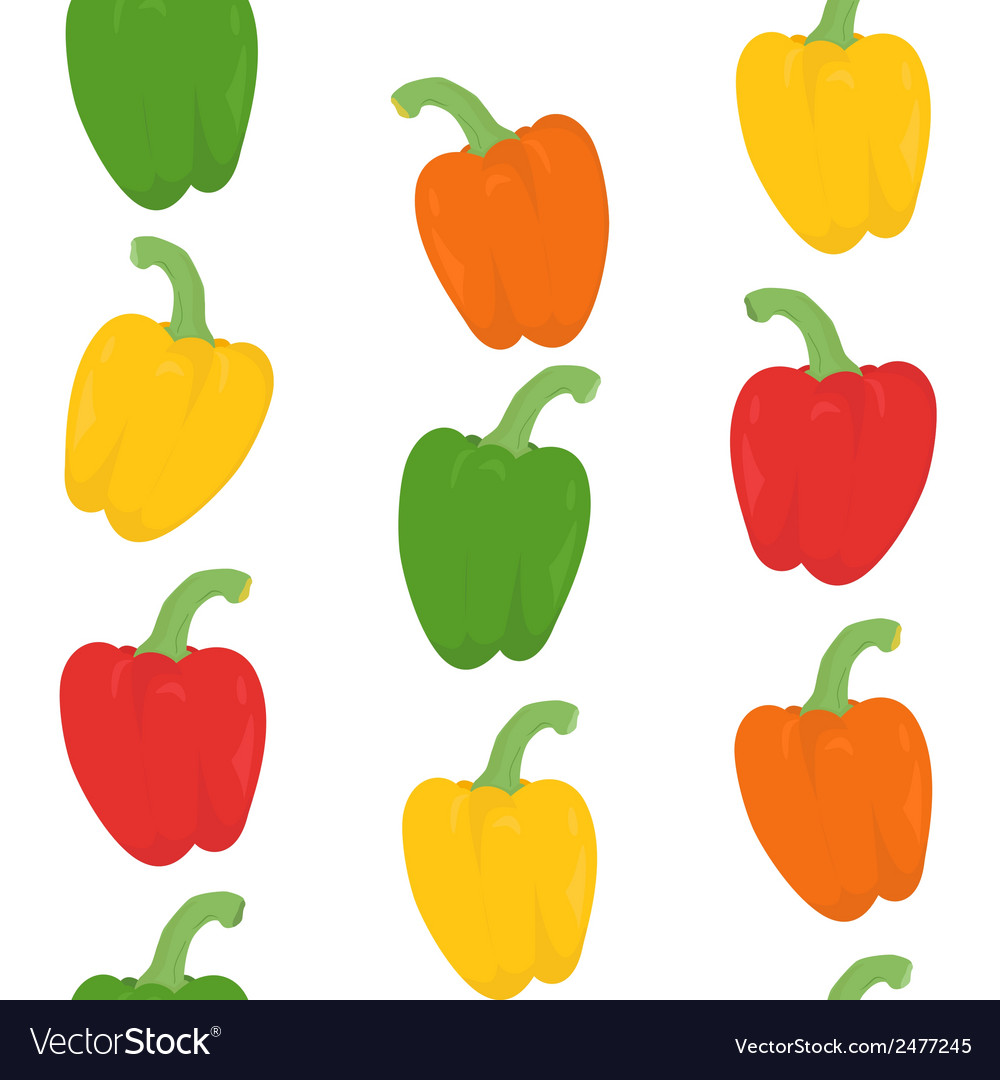 Seamless pattern with bright peppers vector | Price: 1 Credit (USD $1)