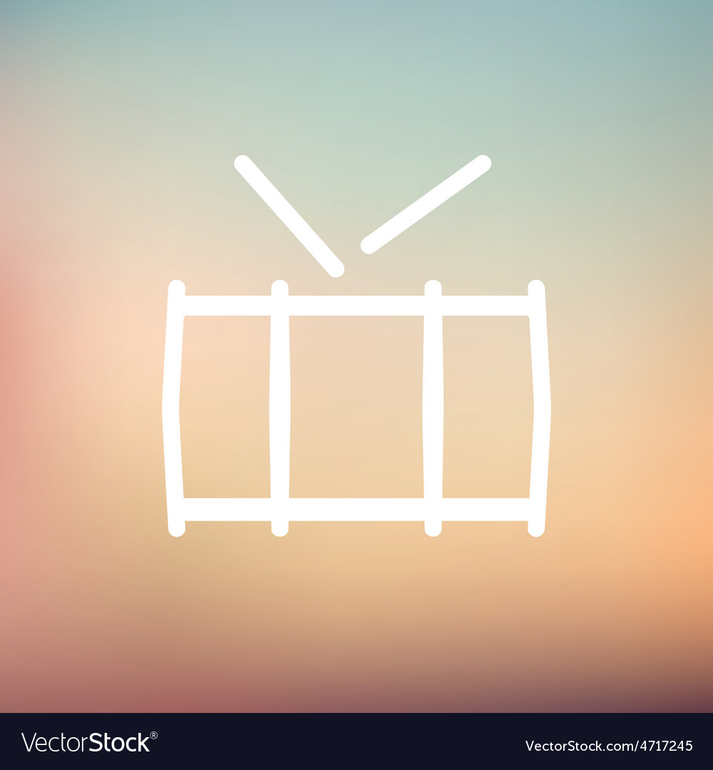 Snare drum thin line icon vector | Price: 1 Credit (USD $1)