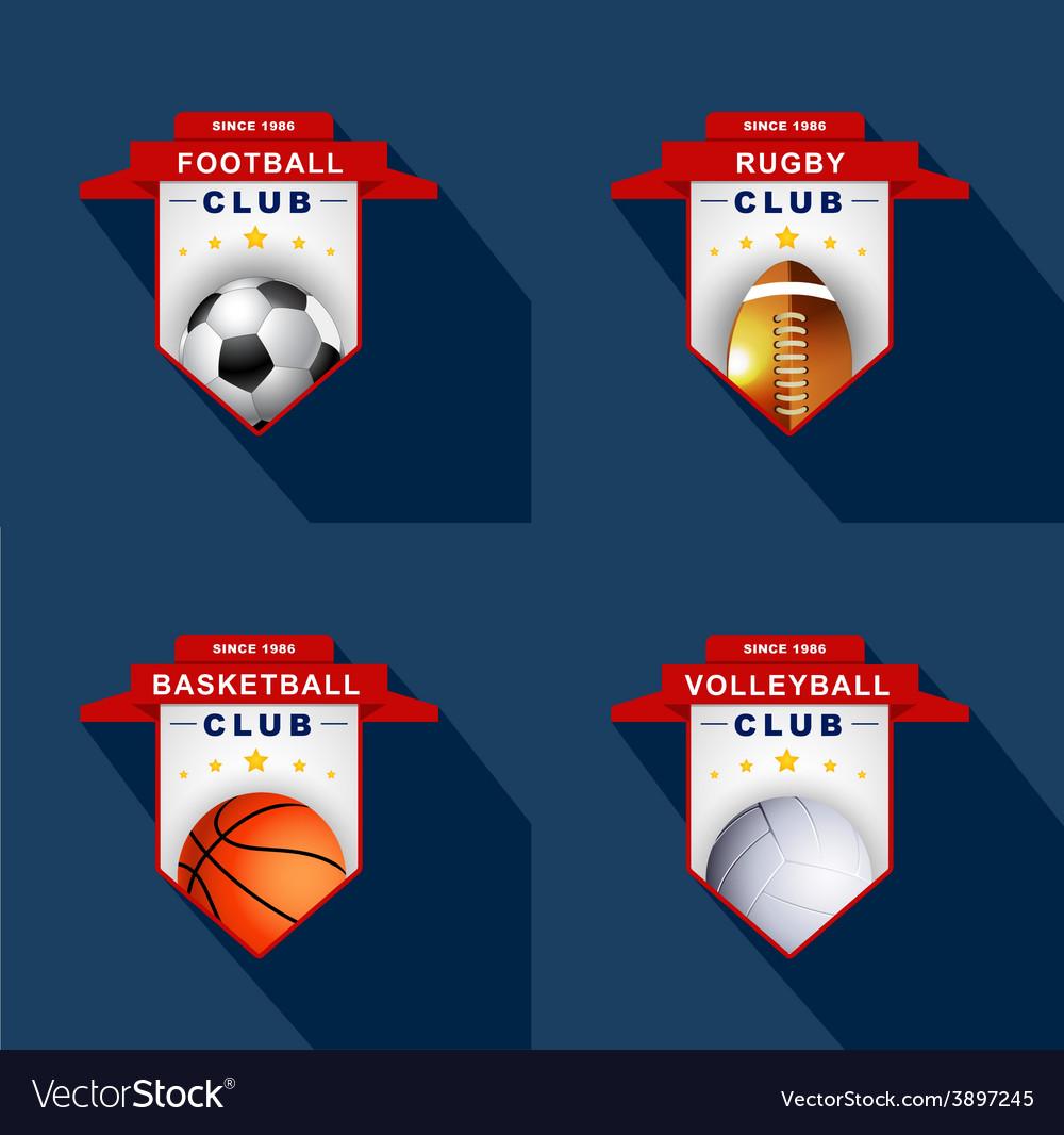 Sports labels badge emblem vector | Price: 1 Credit (USD $1)