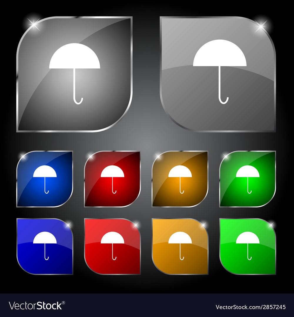 Umbrella sign icon rain protection symbol set vector   Price: 1 Credit (USD $1)