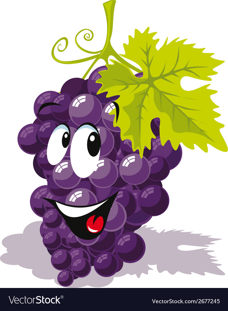 Wine grape cartoon vector | Price: 1 Credit (USD $1)