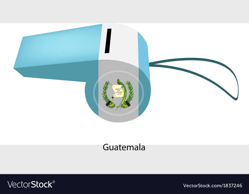 A whistle of the republic of guatemala vector | Price: 1 Credit (USD $1)