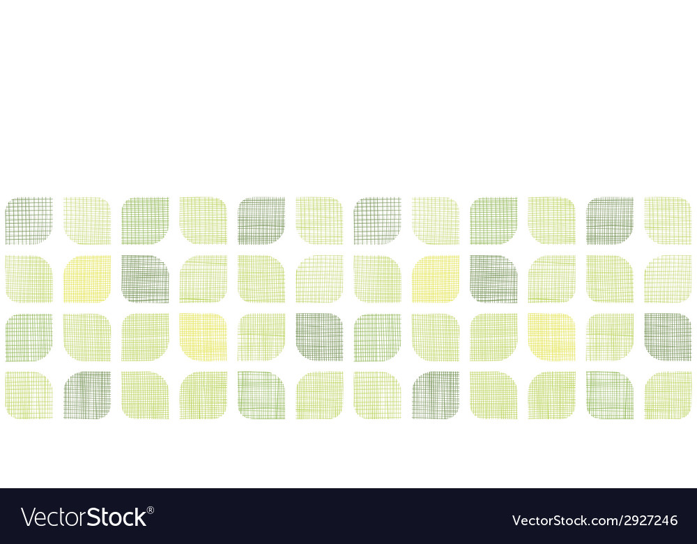 Abstract textile green rounded squares horizontal vector | Price: 1 Credit (USD $1)