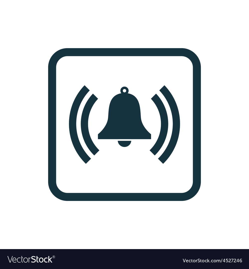 Bell icon rounded squares button vector | Price: 1 Credit (USD $1)