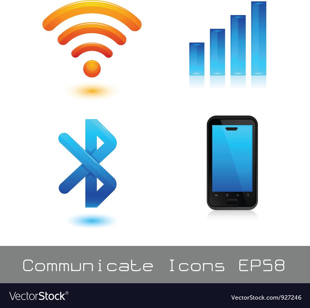 Communicate icon vector | Price: 1 Credit (USD $1)